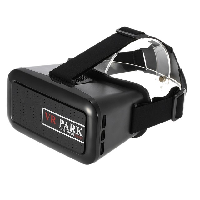 VRPARK VR Box Virtual Reality 3D Glasses Movie Game Home Theater 3D Helmet Head-mounted Black for  Smart Phones