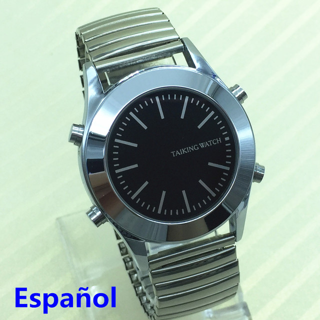 Spanish Talking Watch for Blind People or Visually Impaired with Alarm Quartz Wa