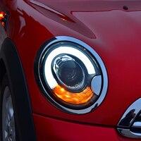 JR для автомобиля BMW mini R56 сборки фар 2006 2013 светодиодный лампы дневного линзы ксеноновые фары