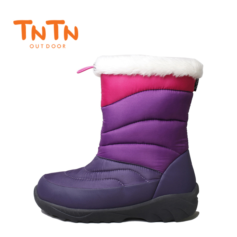 TNTN 2017 Outdoor Winter boots Feathers WarmCashmere Waterproof Skid Thick Snow Boots Cotton Boots Women