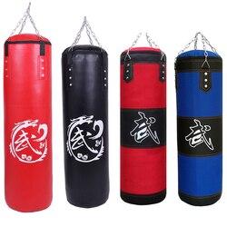 60 cm/80 cm/100 cm/120 cm vermelho preto azul treinamento de fitness mma boxe saco de boxe esporte vazio pontapé saco de areia muay thai formação boxer