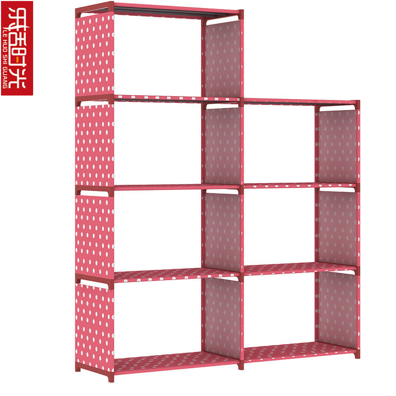 Modern Minimalist 5-Tier 7-Grid Bookshelf Non-woven Living Room Hallway Storage Furniture Removed Display Shelf for Home Decor 12 grid diy assemble folding cloth non woven shoe cabinet furniture storage home shelf for living room doorway shoe rack