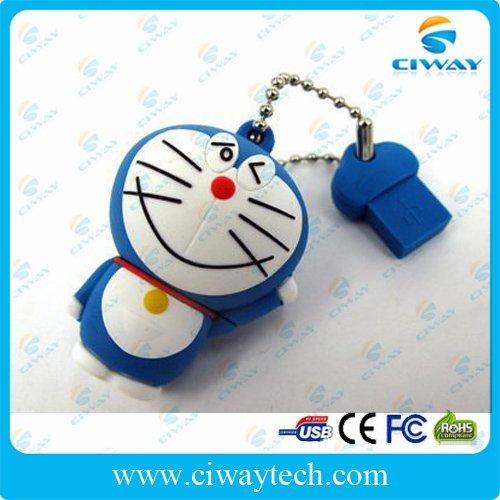 Free shipping 10pcs/lot funny usb 8gb in Doraemon shape wholesale