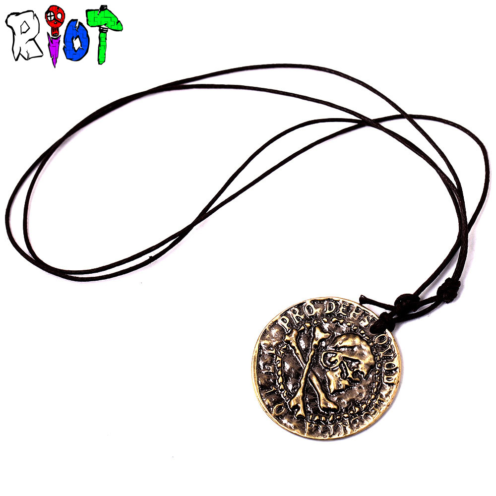 Uncharted Ring Pendant Necklace With Leather Chain Hq