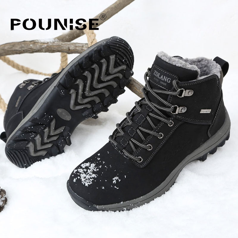 Men Boots Winter With Fur 2017 Warm Snow Boots Men Shoes Footwear Fashion Male Rubber Ankle Boots PU Leather Big Sizes 39- 46 summer women shoes casual cutouts lace canvas shoes hollow floral breathable platform flat shoe sapato feminino lace sandals page 3