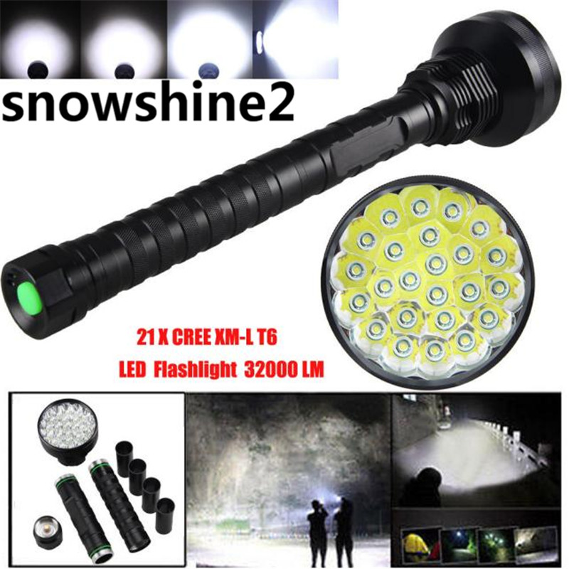 snowshine2#2001 32000LM 24x XML T6 LED Flashlight 5 Modes Torch 26650/18650 Camping Lamp Light free shipping high quality 28000lm 15x xml t6 led flashlight 5 modes torch 26650 18650 camping lamp light