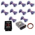 LED Pixel módulo IP68 RGB difuso endereçável WS2811 12mm para carta canal sinal + T-500 Controlador + adaptador De Energia 500 pcs