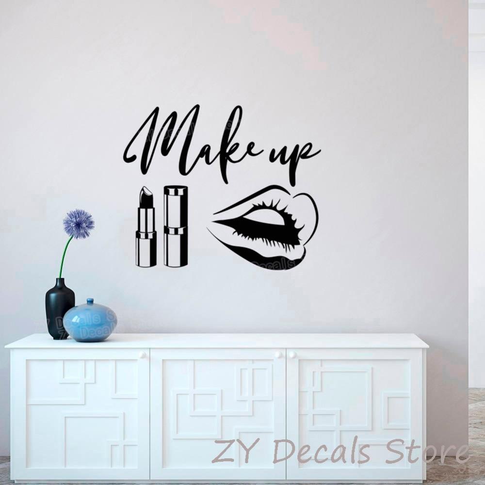 Astounding Wandtattos Ideen Von Beauty Salon Wandsticker Make-up Zitat Wandtattoos Bilden