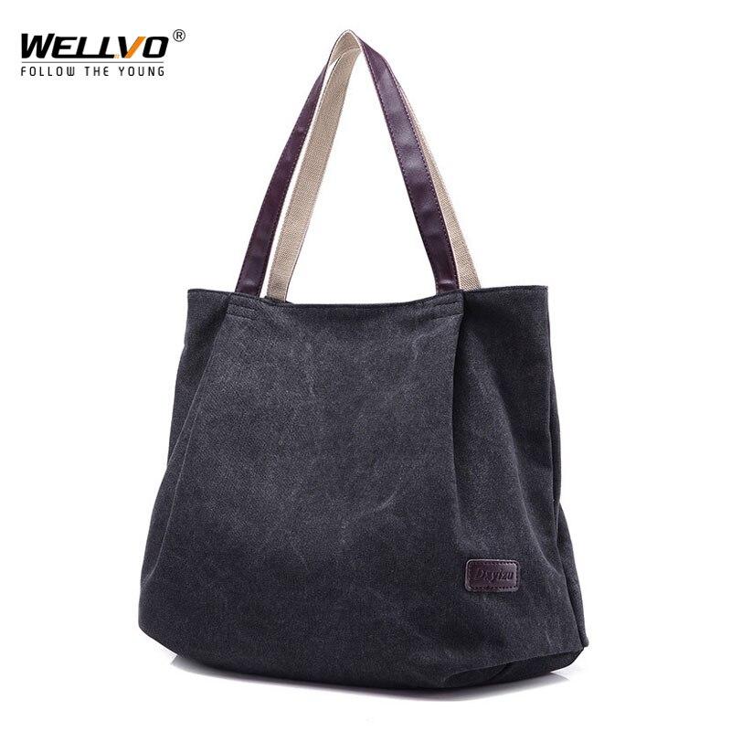 6bbb33b14713 Large Capacity Shoulder Bags Casual Handbags Women Famous Brand Canvas Tote  Shopping Bag