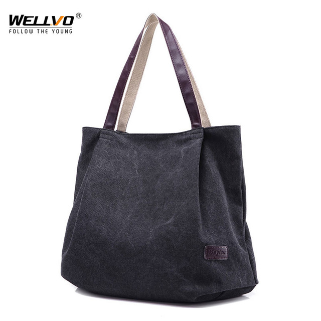 Large Capacity Shoulder Bags Casual Handbags Women Famous Brand Canvas Tote Shopping Bag
