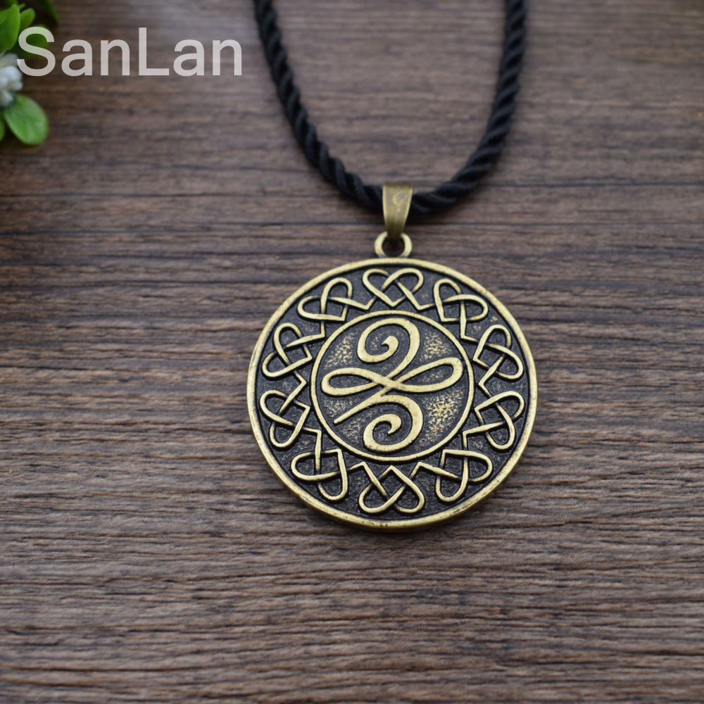Original celtic new beginnings symbol means a new beginning original celtic new beginnings symbol means a new beginning pendant necklace celtic knot round necklace sanlan jewelry in chain necklaces from jewelry biocorpaavc
