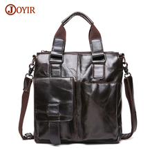 Joyir Brand Mens Office Bags For Men Genuine Leather Briefcase Style Handbags Shoulder Laptop Bags Business Man Briefcase B259A