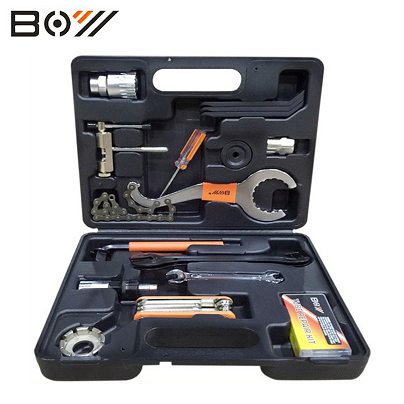 Boy Universal Bicycle Repair Tools Set Kit Case Universal For Mountain Road Bicycle 44 in 1 set cycling Bike Tool Bicycle Parts 16 in 1 carbon steel mountain road bicycle repair tool kit set hex spoke wrench cycling screwdriver