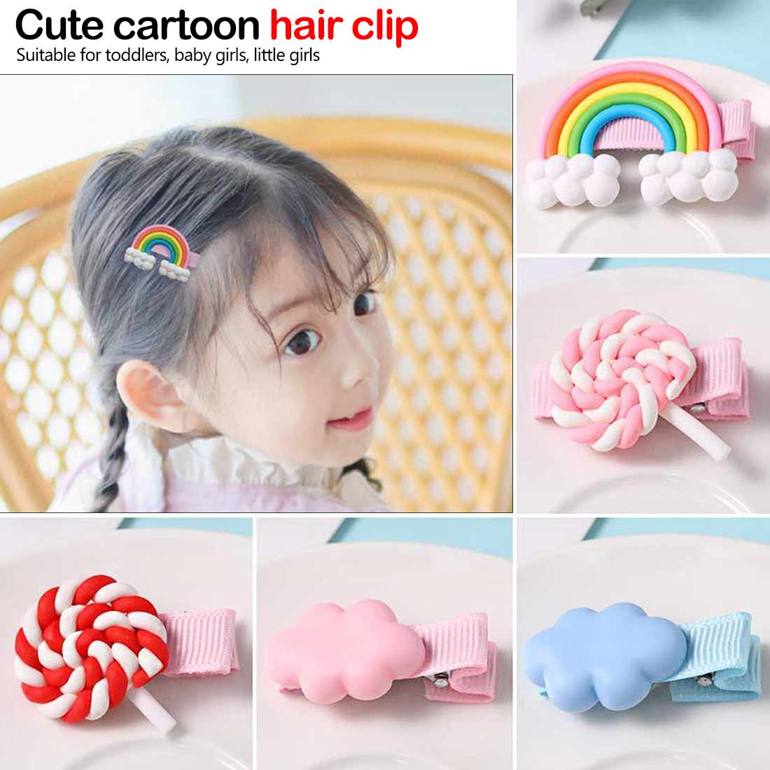 Girls Pearl Hair Clip Fashion Candy Hairclip Barrette Stick Women Hair Pins Bobby Hair Accessories Elegant Hairpin