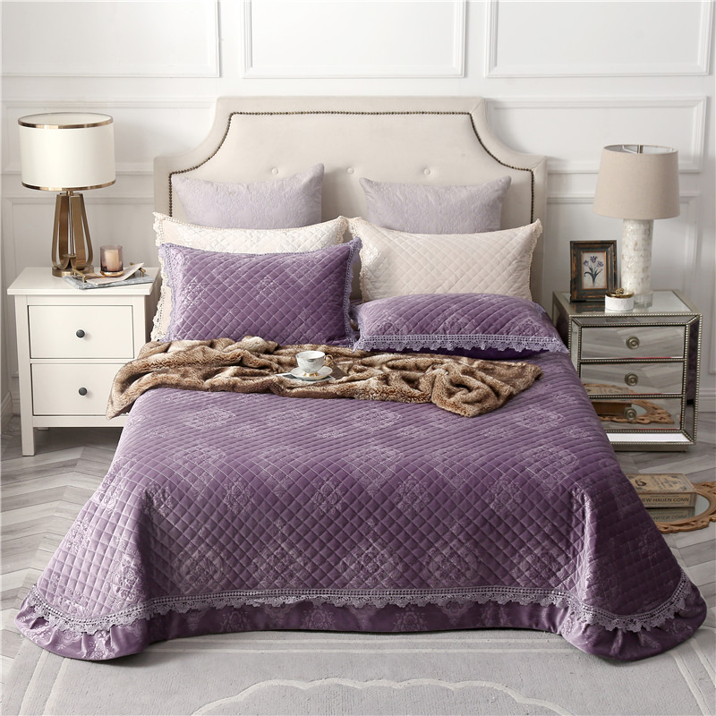 High Quality Purple Green Beige Pink Comfortable Flannel Cotton Thick Bedspread Bed Cover Bed Sheet Pillowcases Summer Blanket High Quality Purple Green Beige Pink Comfortable Flannel Cotton Thick Bedspread Bed Cover Bed Sheet Pillowcases Summer Blanket