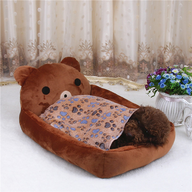 Cute Pet Dog Bed Mats Animal Cartoon Shaped Pet Sofa Kennels PP Cotton Warm Cat House Dog Pad Teddy Mats Big Blanket Supplies   3