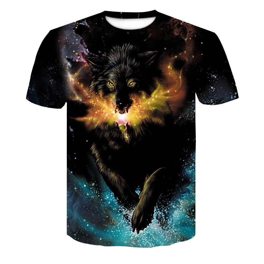 01fcc50a8822 Novelty 3D men wolf t-shirt Cool wolf Printed t shirts summer 3D Short  Sleeve Glow ...