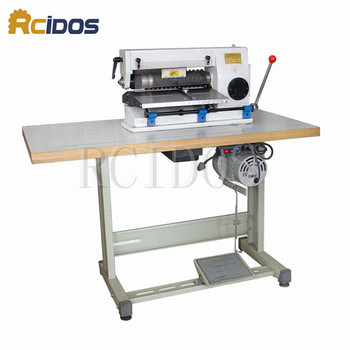 LZ-1 leather cutting/slitting machine,RCIDOS leather slitter,shoe bags straight paper cutter, Vegetable tanned leather slicer