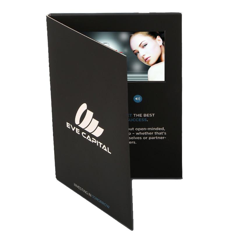 custom made 5inch Screen Brochure Universal Video Greeting Cards ...