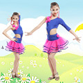 Girl Purple Fringe Paillette Latin Dance Costume Child Salsa Dance Costume Kids Ballroom Dance Dress Tango Clothing  89