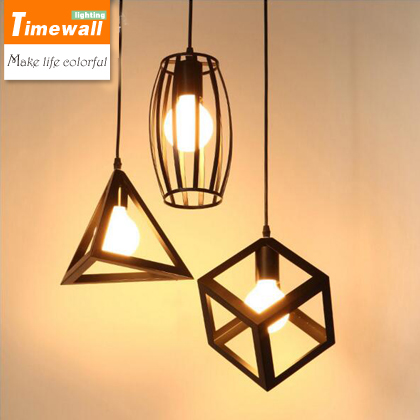 KM Vintage retro pendant lights LED lamp metal cube cage lampshade lighting hanging light fixture with LED G80 bulb fellowes powershred m 7c black шредер