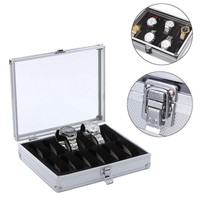 High Grade 12 Grid Slots Fiber Display Jewelry Boxes With Large Glass Window Watch Box Holder Storage