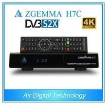 2 pcs/lot zgemma h7c 4k ultra hd tv receiver dvb s2x/s2 + twin dvb t2 & dvb c support multi-stream