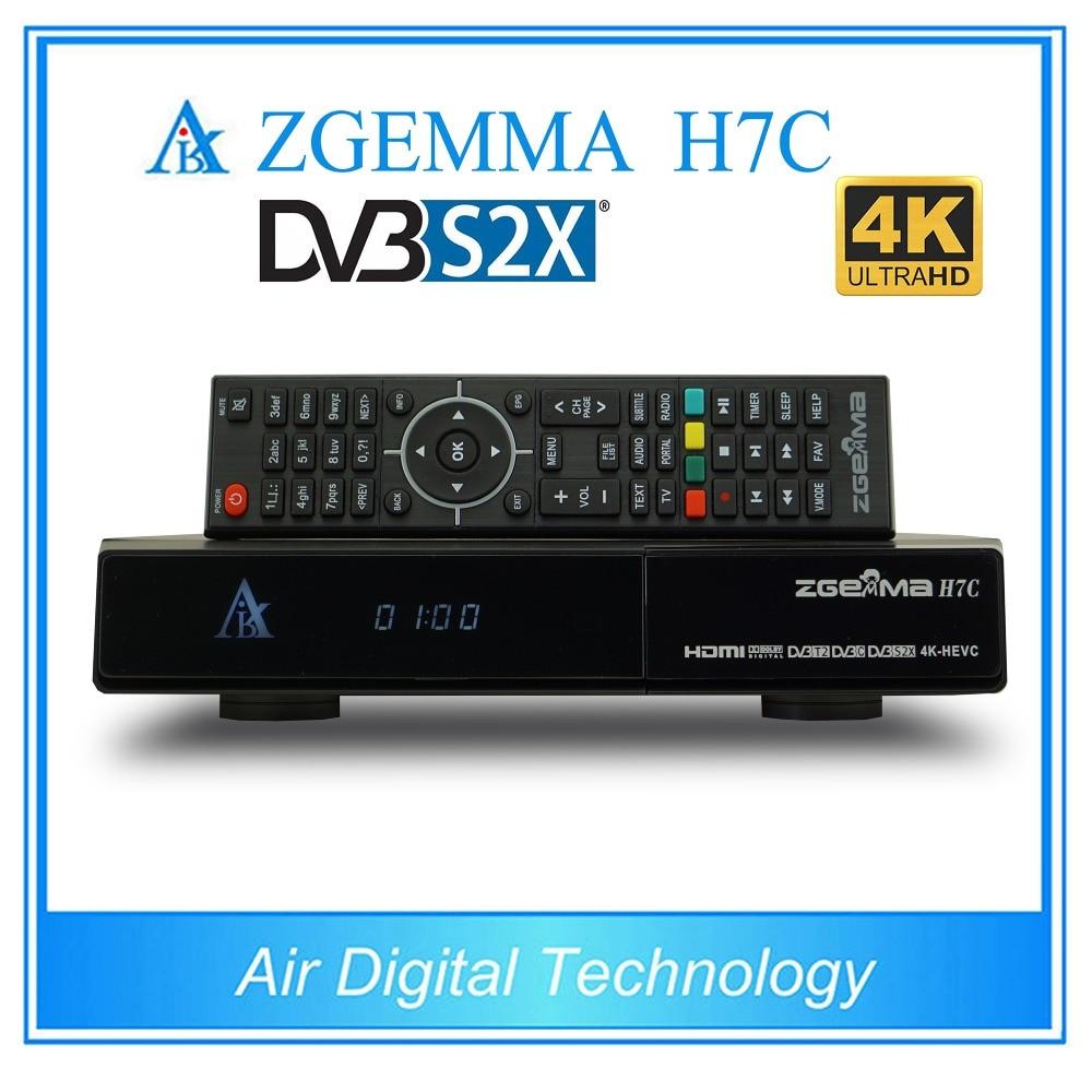 2 pcs/lot zgemma h7c 4k ultra hd tv receiver dvb s2x/s2 + twin dvb t2 & dvb c support multi-stream 5 pcs lot zgemma h7s 4k ultra receiver twin dvb s2x s2 dvb t2
