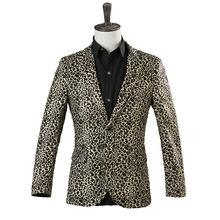 Мужской костюм леопардовой расцветки однобортный Повседневный