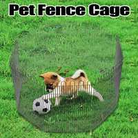 8PCS Foldable Pet Fence Run Playpen for Small Pets Puppy Dogs Cats Hamster Folding House Cage Play Cages Pet Dog Accessories