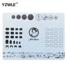 YZWLE 1 Sheet Silicone Stamping Mat 40.5cm*30.5cm Foldable Washable Pad Nail Art Tool For Manicure, 3 Styles For Choose