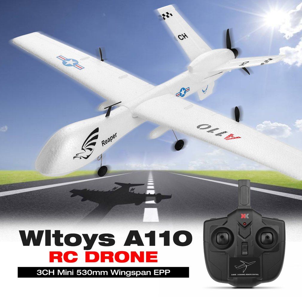 Wltoys A110 3CH Mini rc Airplane 530mm Wingspan EPP RC FPV Racing Plane Toys with High Speed RC Drone Model Gift for ChildrenWltoys A110 3CH Mini rc Airplane 530mm Wingspan EPP RC FPV Racing Plane Toys with High Speed RC Drone Model Gift for Children