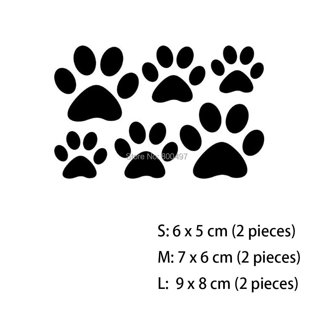 Ξ60 x encantador creativo Etiquetas de coche pata del gato del perro ...