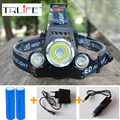 LED 10000LM Headlamp CREE XML T6 Rechargeable Headlight Head Lamp Spotlight For Hunting+Charger (US EU AU UK)+ 18650 Battery