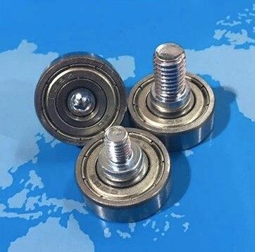 M6X8MM  Diameter:24mm 628ZZ Bearing Pulley Metal Guide Roller Wheel
