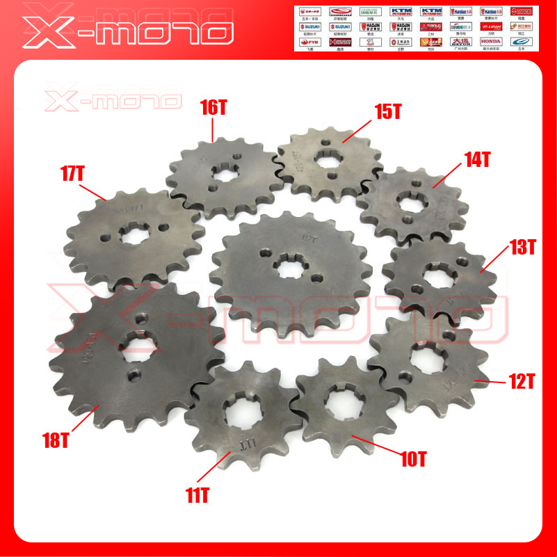 428 10-19T Tooth 17mm ID Front Engine Sprocket for 50-160cc Orion Apollo Dirt Pit Bike ATV Quad Go Kart Buggy Scooter Motorcycle 428h chain rear sprocket 37 tooth 58mm diameter for crf50 xr50 dirt pit bike motorcycle motocross 428 gear fit 10inch rear wheel