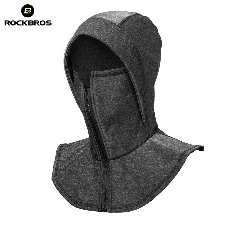 ROCKBROS Thermal Ski Headgear Windproof Skiing Bibs Snowboarding Neck Warmer Ski Face Mask Snow Fleece Headwear Winter Bike Hat