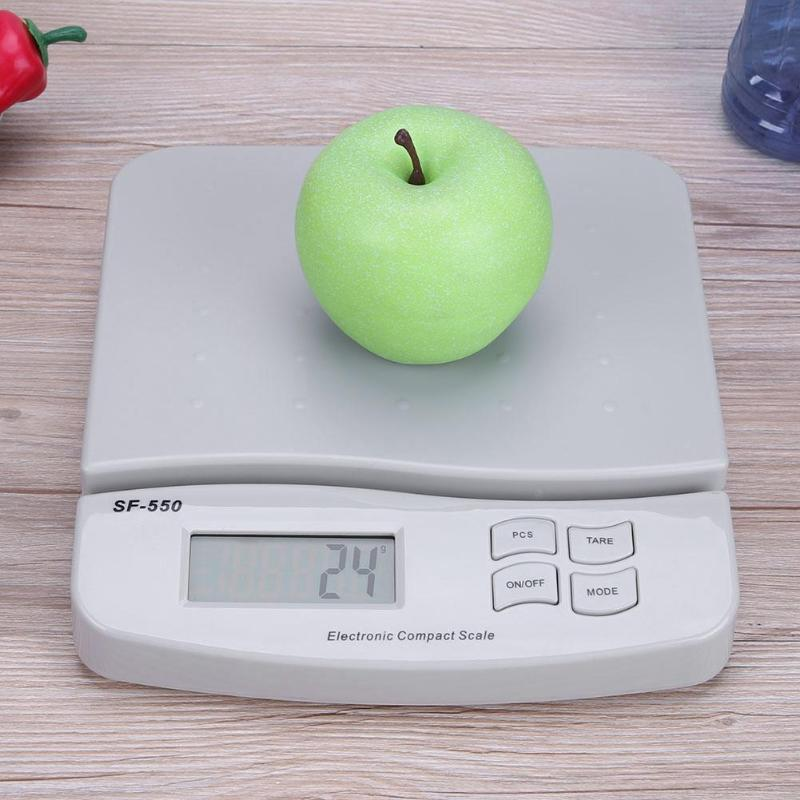 цена на 25kg/1g Digital Scale LCD Backlight Electronic Weighing Baggage Scales High Precision Kitchen Scale Food Balance Measuring