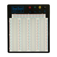 Solderless Breadboard MB 102 Big Size Black Aluminum Board ZY 208 For Test Circuit 20 29AWG