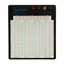Solderless Breadboard MB-102 Big-size Black Aluminum Board ZY-208 for Test Circuit 20-29AWG For Arduino Raspberry Pi
