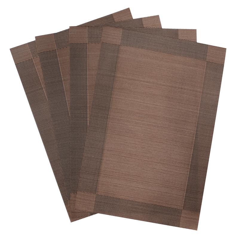 4pcs pvc decorative vinyl placemats for dining table