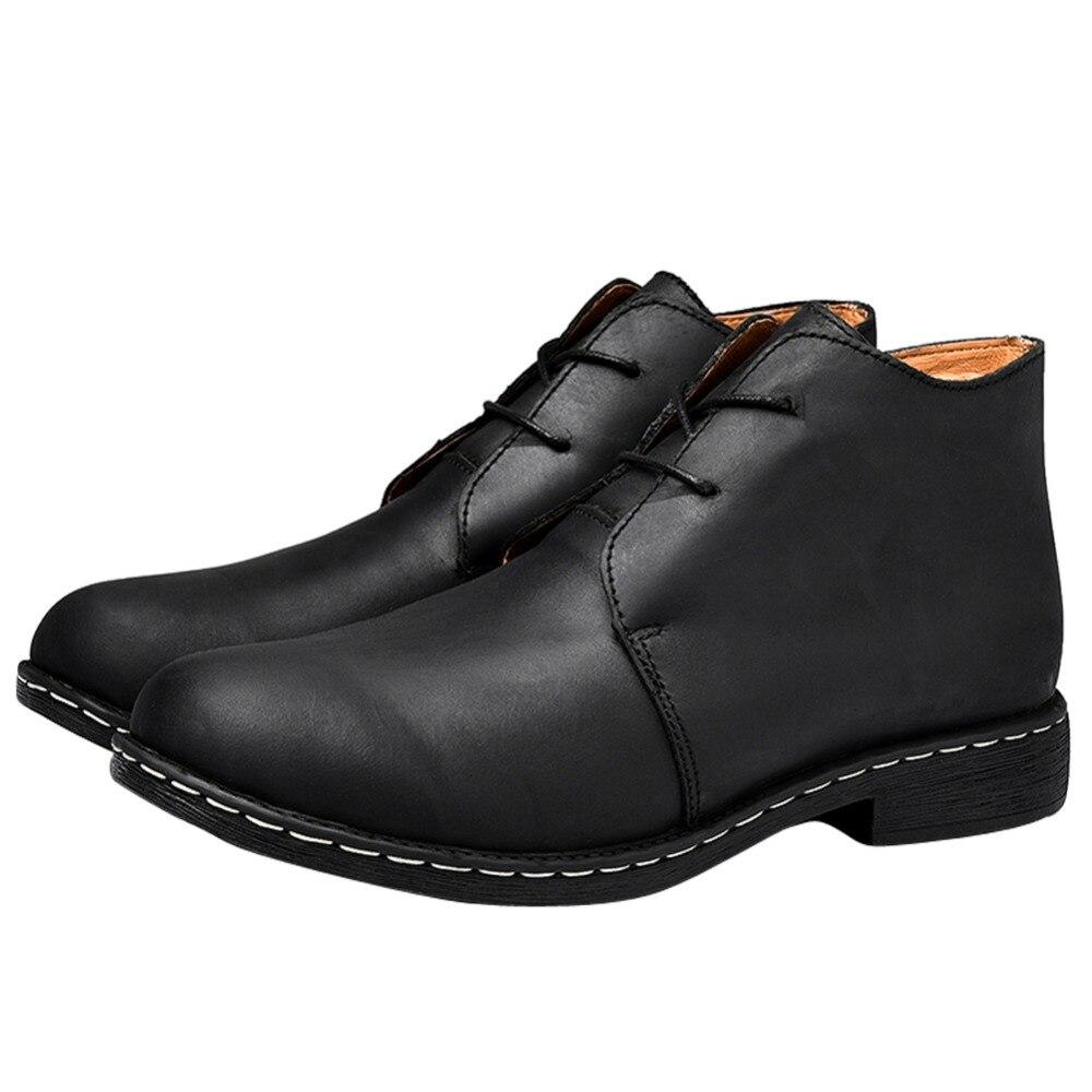 With Com Genuíno black Fur Fur De Black Sapatos brown Botas Dos Inverno Homens Artesanal Couro Otto Tamanho Tornozelo brown Zona Vaca up Size Plus Pele Lace EqxnWwO1Bf
