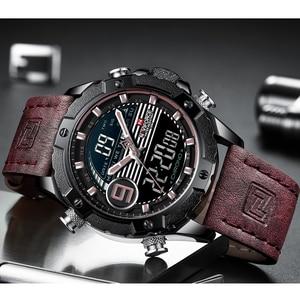 Image 3 - NAVIFORCE Luxury Brand Mens Sport Watches Men Quartz LED Digital Clock Male Military Waterproof Leather Watch Relogio Masculino