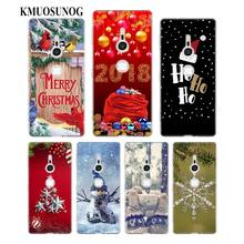 Transparent Soft Silicone Phone Case Happy Ho Christmas for Sony Xperia E5 XA1 XA2 M5 Z5 XZ1 XZ2 Compact