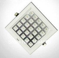 Darmowa wysyłka Super 25 W Ultra Cienkie Kwadratowe Siatki Aluminium Wpuszczone DOPROWADZIŁY Kratka Lampa kuchnia łazienka Dół światła AC85-265V