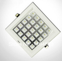 Free Shipping Super 25W Ultra Thin Square Grid Aluminum Recessed LED Grille Lamp Kitchen Bathroom