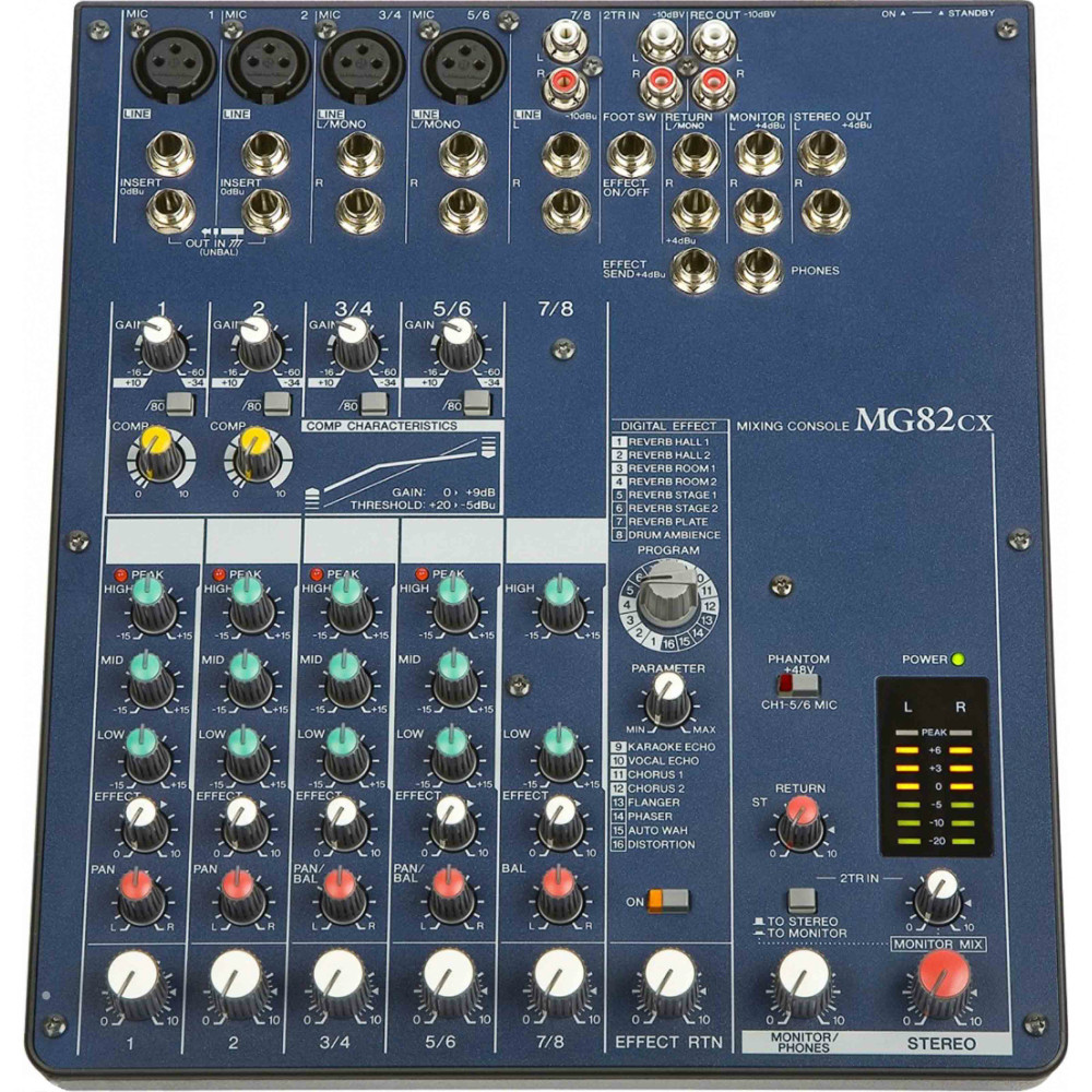 mg82cx 8 channel build in 16 kind digital vocal echo reverb effect 3 band eq audo mixer free. Black Bedroom Furniture Sets. Home Design Ideas