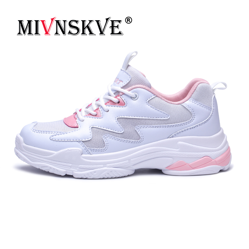 MIVNSKVE Sports Shoes Woman Running Shoes Height Increasing Lightweight Women Sneakers Breathable Outdoor Sports Sports Run Shoe