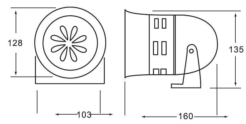 90~ 100 дБ пластиковый корпус аварийные Тревожные сирены громкое устройство шума/Промышленные сирены пожарные свистки(MS-290 A