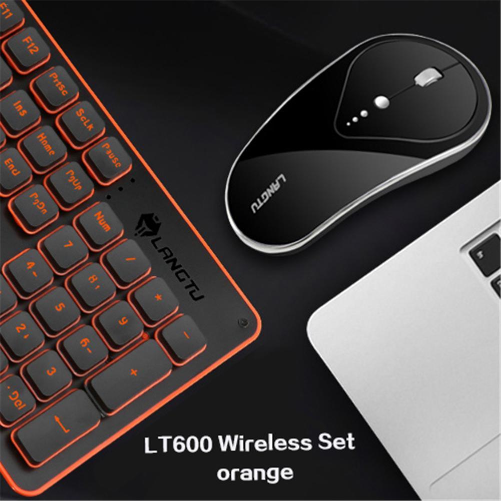 [Véritable] 2.4 Ghz Kit de souris clavier de jeu sans fil Rechargeable lumineux muet ergonomie souris clavier ensemble